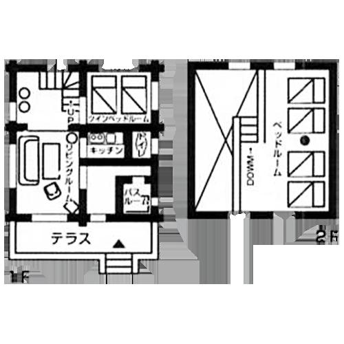 間取り図:カストル・おりひめの館